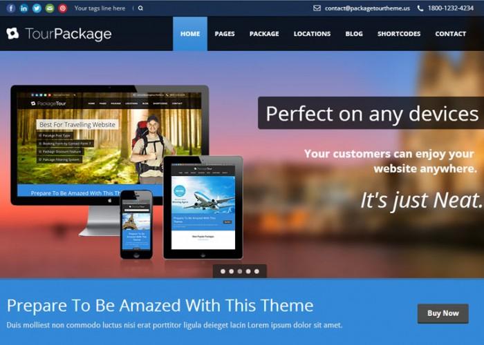 Tour Package – Premium Responsive Travel WordPress Theme