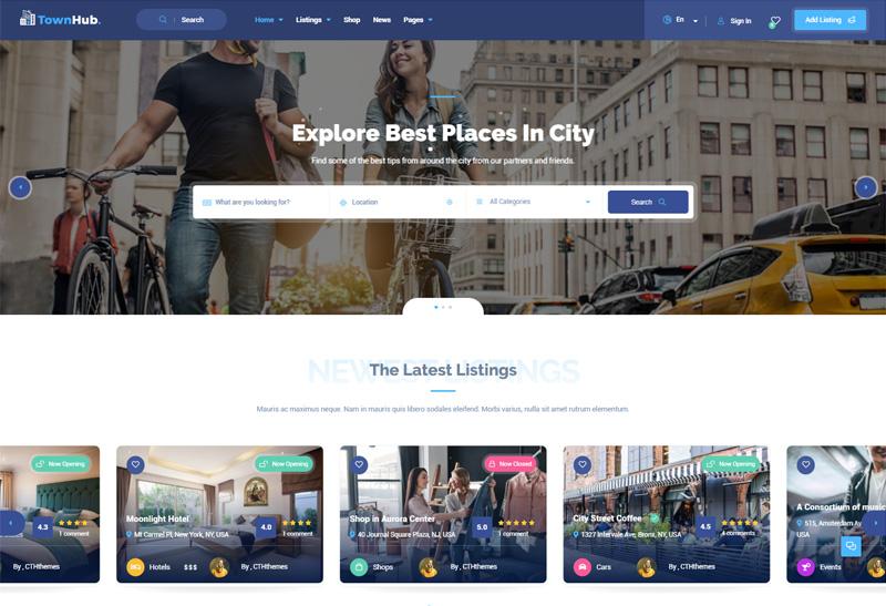 TownHub - Premium Responsive Directory & Listing WordPress Theme