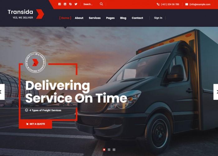 Transida – Premium Responsive Logistics WordPress Theme