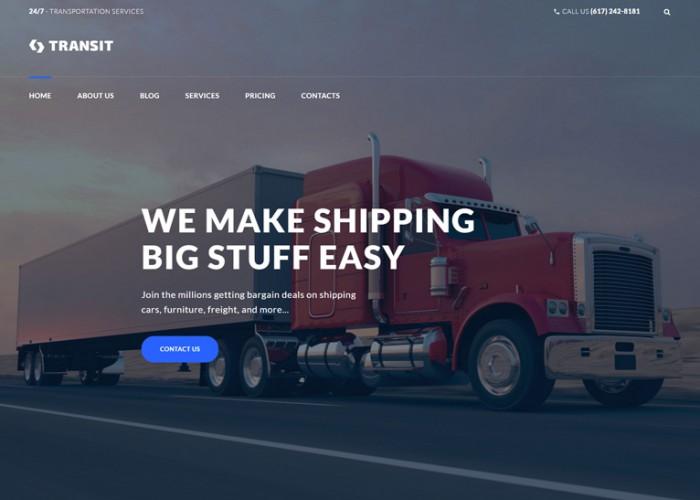 Transit – Premium Responsive Transportation Service WordPress Theme