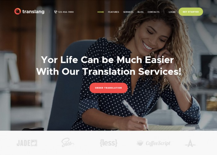 Translang – Premium Responsive Language Courses WordPress Theme