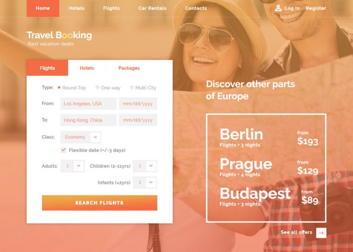 Travel Booking – Premium Responsive Travel HTML5 Template