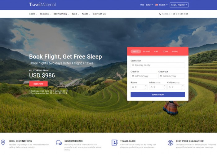 Travel Material – Premium Responsive HTML5 Template for Travel Booking