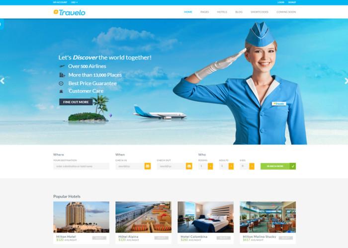 Travelo – Premium Responsive Booking WordPress Theme