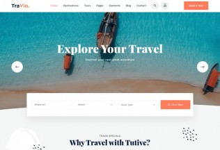 Travio – Premium Responsive Travel Agencies WordPress Theme