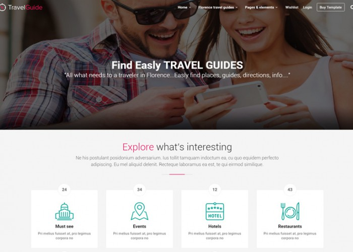 TravelGuide – Premium Responsive Travel Guides, Places and Directions HTML5 Templates
