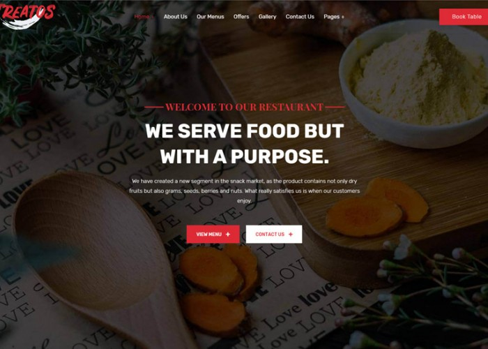 Treatos – Premium Responsive Authentic Restaurant WordPress Theme