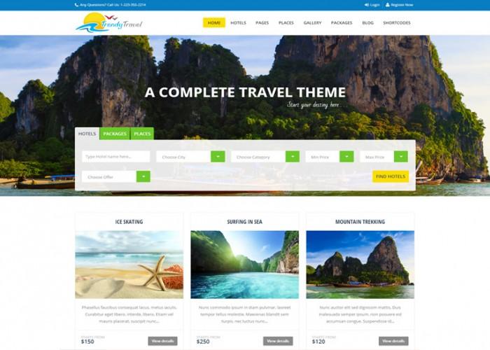 Trendy Travel – Premium Responsive Tour Package WordPress Theme
