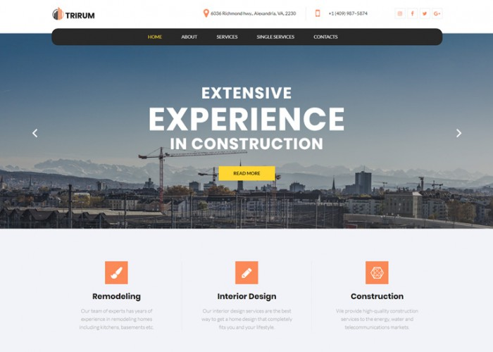 Trirum – Premium Responsive Construction Elementor WordPress Theme