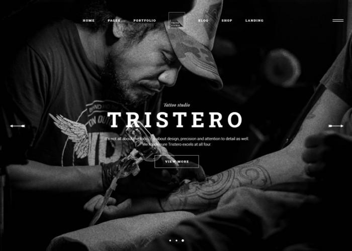 Tristero – Premium Responsive Tattoo WordPress Theme