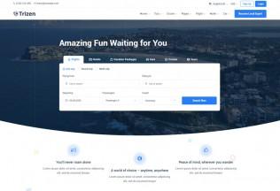 Trizen – Premium Responsive Travel Hotel Booking HTML5 Template