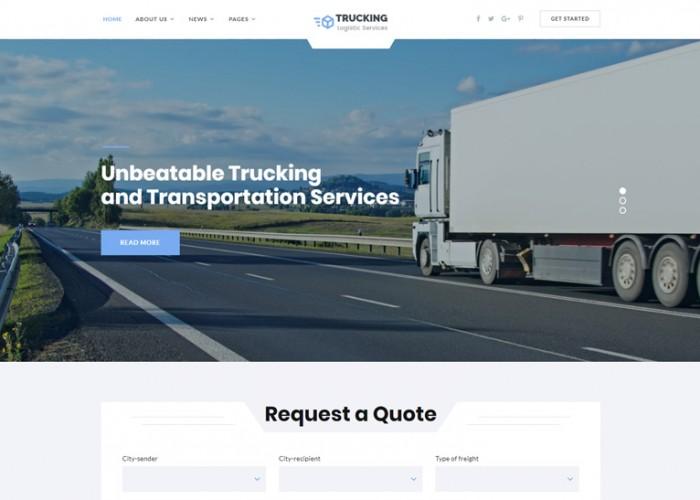 Trucking – Premium Responsive Transportation HTML5 Template