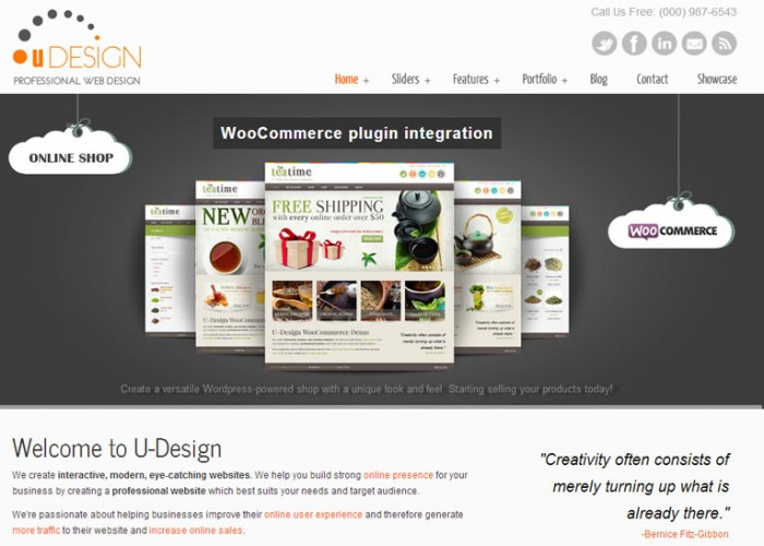 U-Design – Premium Responsive WordPress Theme