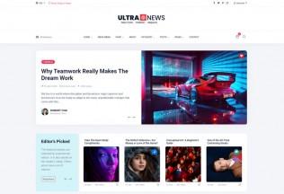UltraNews – Premium Responsive Magazine Bootstrap 4 HTML5 Template