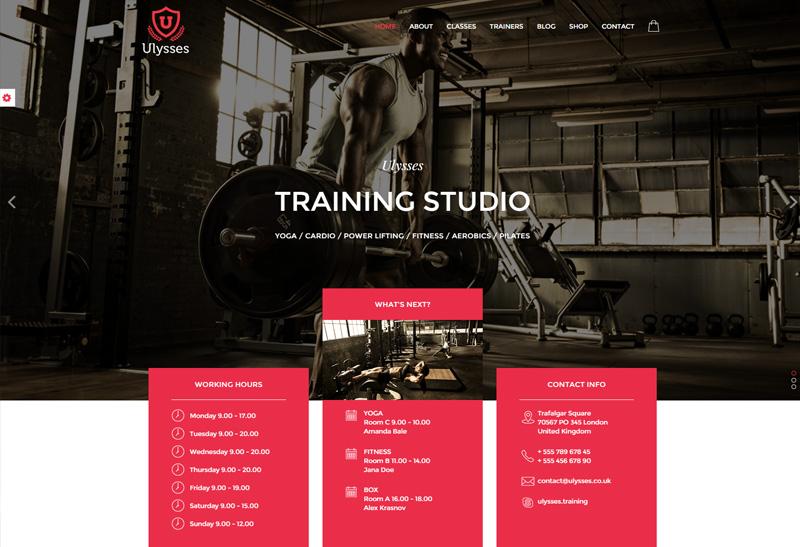 ulysses premium responsive gym fitness html5 template