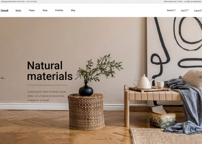 Umea – Premium Responsive Furniture Store WordPress Theme