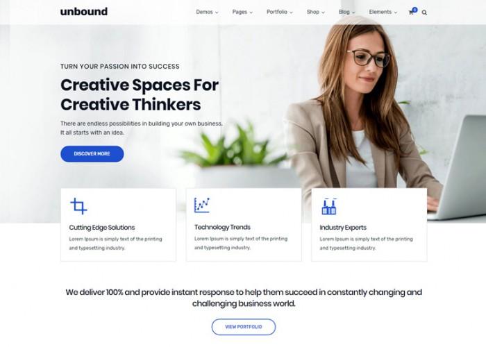 Unbound – Premium Responsive Business Multipurpose WordPress Theme