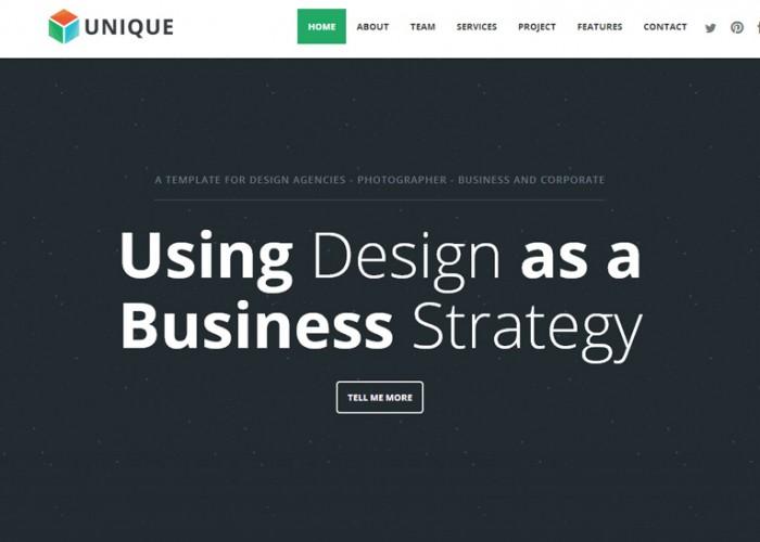 Unique – Premium Responsive Parallax One Page HTML5 Template