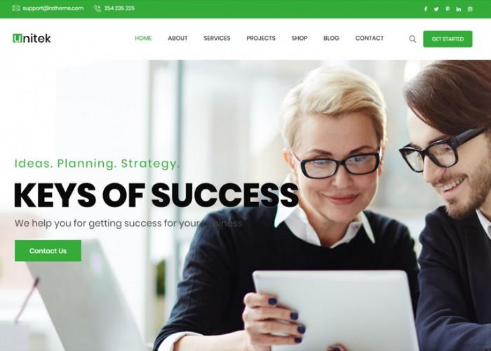 Unitek – Premium Responsive Business WordPress Theme