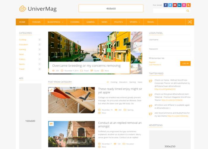 UniverMag – Premium Responsive News & Magazine WordPress Theme