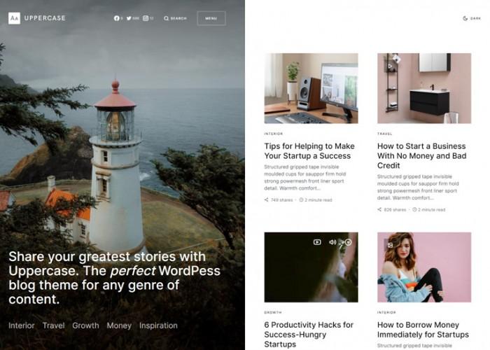Uppercase – Premium Responsive Blog WordPress Theme
