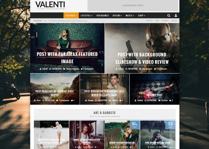 Valenti – Premium Responsive HD Review Magazine News WordPress Theme