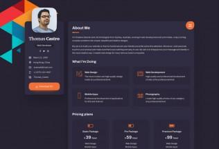 Vcard – Premium Responsive CV Resume WordPress Theme