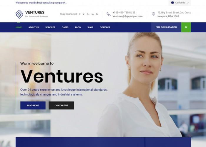 Ventures – Premium Resposnive Consulting Business HTML5 Template