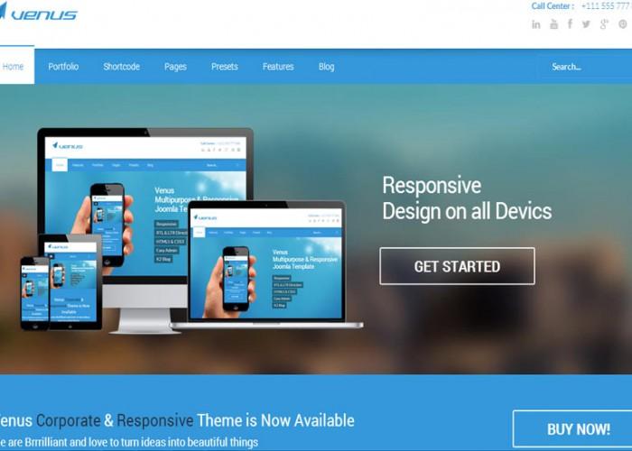 Venus – Premium Responsive Multipurpose Joomla Template