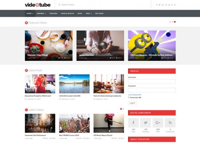 VideoTube – Premium Responsive Video WordPress Theme