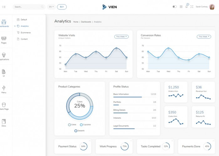 Vien – Premium Responsive Angular 9 Admin HTML5 Template