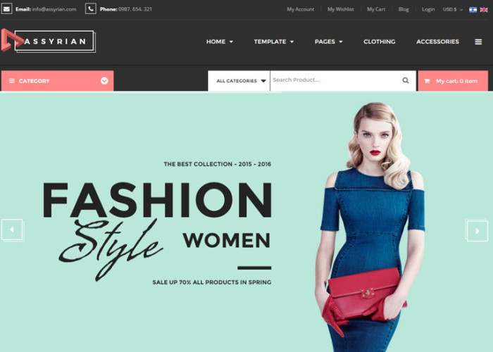 Vina Assyrian – Premium Responsive Fashion VirtueMart 3 Joomla Template