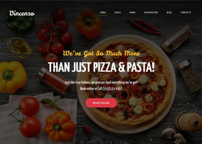 Vincenzo – Premium Responsive Pizza Restaurant WordPress Theme