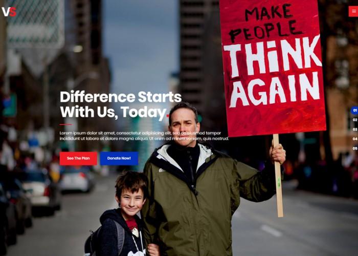 VoteStart – Premium Responsive Political Campaign WordPress Theme
