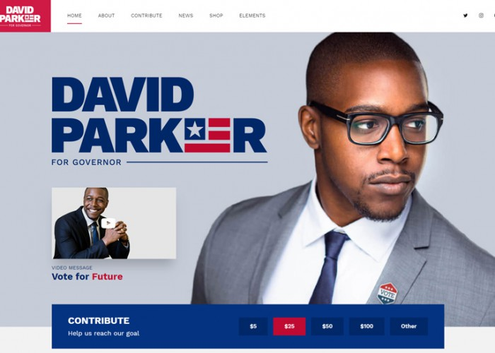 Vox Populi – Premium Responsive Political Party WordPress Theme