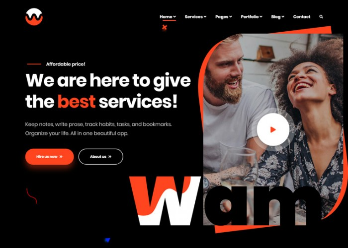 Wam – Premium Responsive Creative Agency WordPress Theme