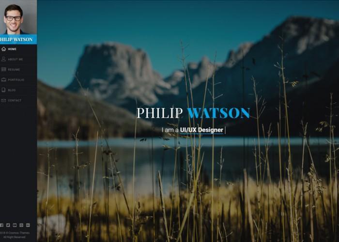 Watson – Premium Responsive Resume, CV, Portfolio HTML5 Template