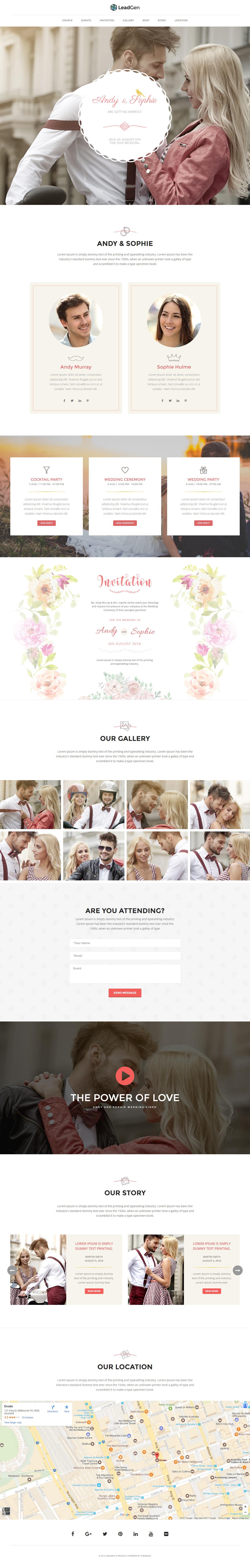 3+ Best Responsive HTML3 Wedding Templates 3 - Responsive Miracle