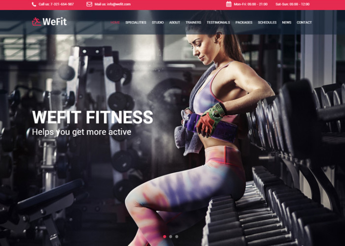 WeFit – Premium Responsive Bootstrap Health & Fitness HTML5 Template