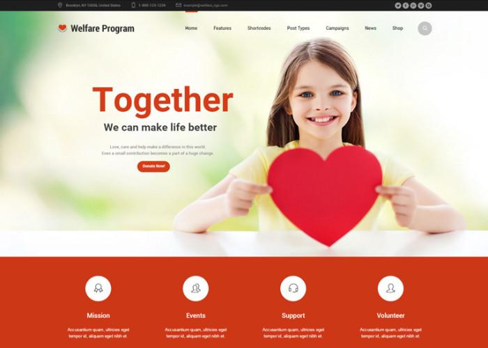 Welfare NGO – Premium Responsive Nonprofit Organization Charity WordPres Theme