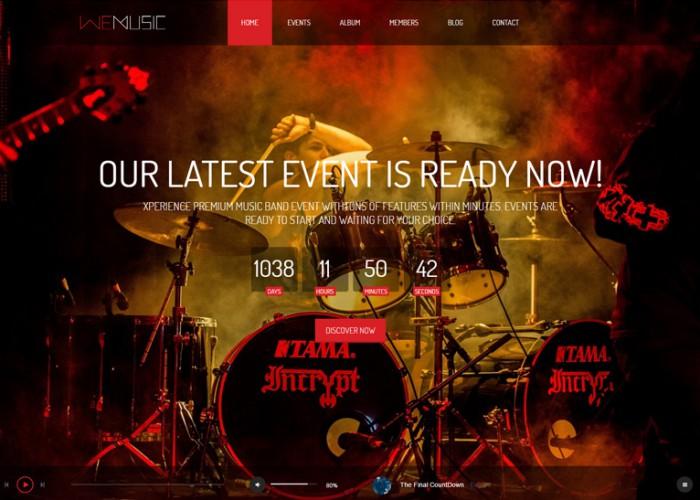 WeMusic – Premium Responsive Music Band Event Drupal Theme