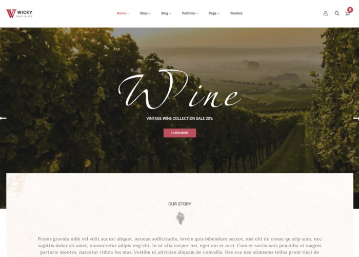 Wicky – Premium Responsive Wine Shop WordPress Theme
