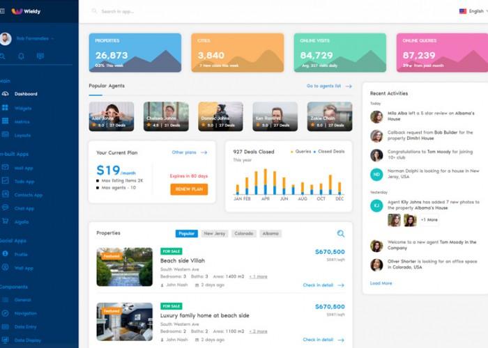 Wieldy – Premium Responsive React Admin Dashboard HTML5 Template