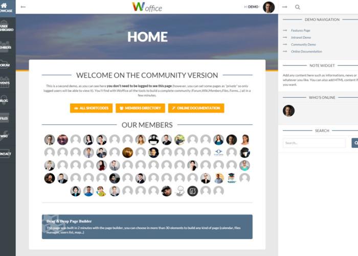 Woffice – Premium Responsive Intranet/Extranet WordPress Theme