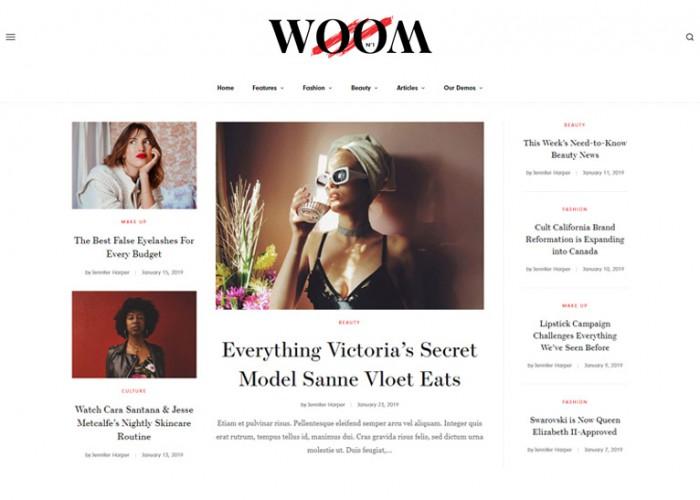 Woom – Premium Responsive Blog & Magazine WordPress Theme