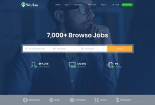 Workio – Premium Responsive Job Board WordPress Theme