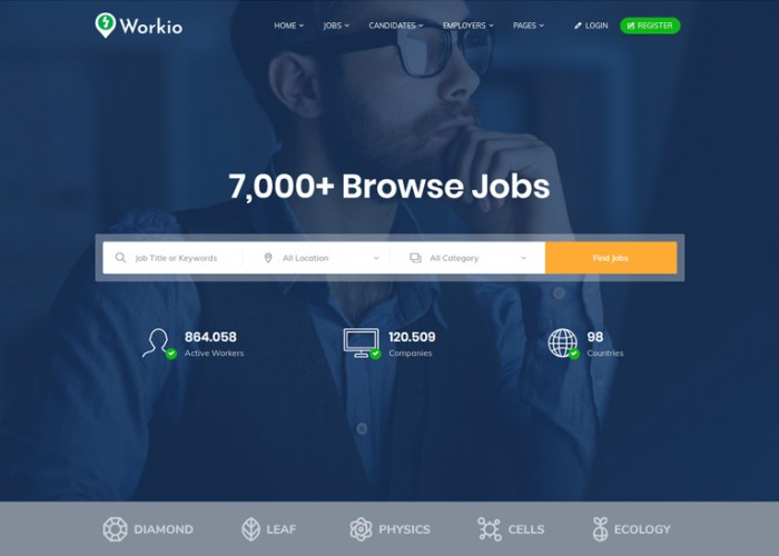 Workio – Premium Responsive Job Board WordPress Theme