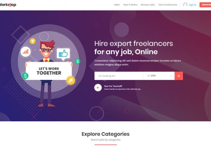 Workreap – Premium Responsive Marketplace WordPress Theme