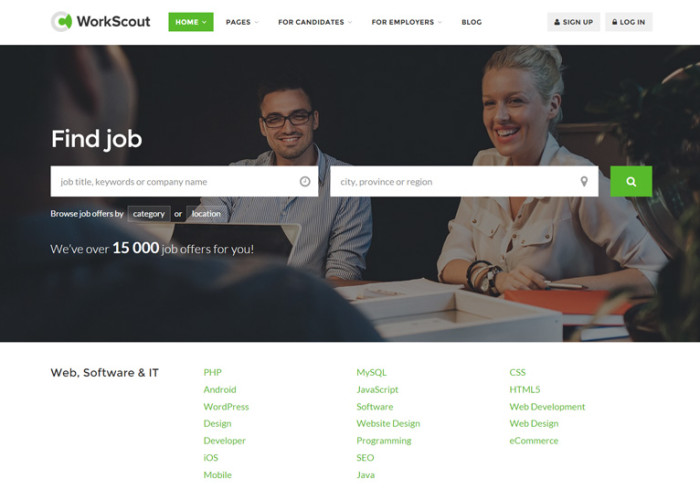 WorkScout – Premium Responsive Job Board HTML5 Template