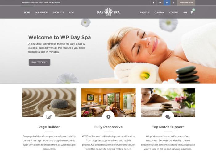 WP Day Spa – Premium Responsive WordPress Theme